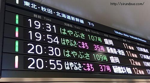 はやぶさ・やまびこ・こまち・なすの違い【東北新幹線】駅料金・時間