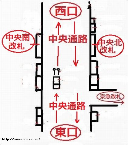 横浜駅 待ち合わせ場所【くわしく】定番・中央通路・西口東口他